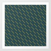 green arrow Art Prints featuring Green Arrow by Birchwood by Ivoryfox