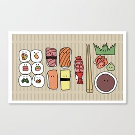Sushi, Please. Canvas Print
