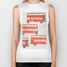 London Double Decker Red Bus Biker Tank