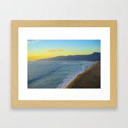Zuma Beach Framed Art Print