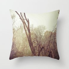 To the woods Throw Pillow