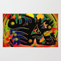 monster Area & Throw Rugs featuring Monster by JT Digital Art