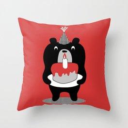 Cake Bear Throw Pillow