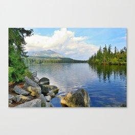 Strbske pleso lake Canvas Print
