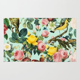 Floral and Birds III Rug