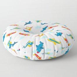 Cute plane pattern Floor Pillow