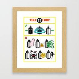 TeleCorp Teleport Company Framed Art Print