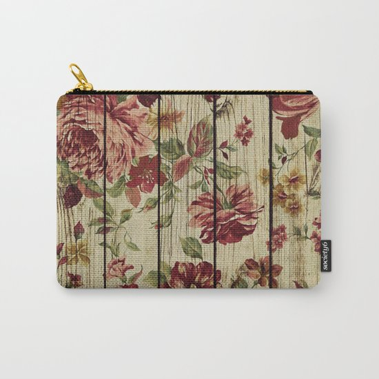 Flowers on Wood 07 Carry-All Pouch