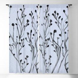 Winter Thistle Blackout Curtain