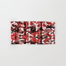 Black, White and Red Tapestry Hand & Bath Towel