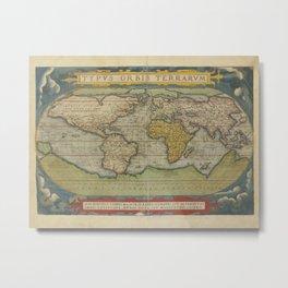 Chinese World Map 1602 Metal Print
