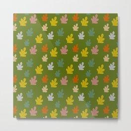 Colorful falling leaves Metal Print