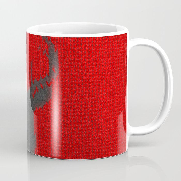 Antiallergenic Hand Knitted Deer Winter Wool Texture - Mix & Match with Simplicty of life Coffee Mug