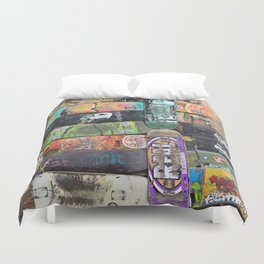 Boards were made to  be broken Duvet Cover