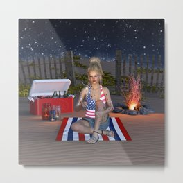 Happy Independence Day Metal Print