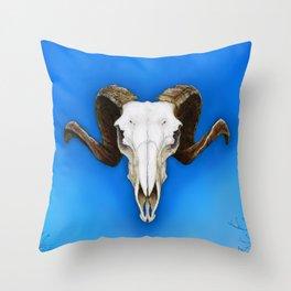 Dartmoor Sheep Skull Throw Pillow
