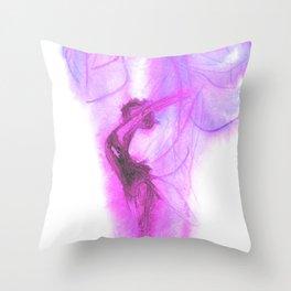 Purple Spirit Throw Pillow