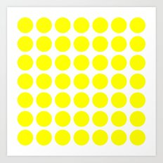 BIG YELLOW DOT Art Print