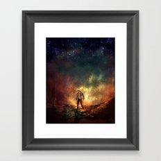Carrying Hell Framed Art Print