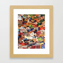 Mexico historical town cityscape (Guanajuato) Framed Art Print