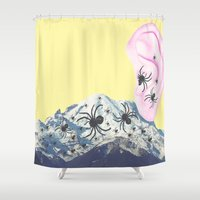 thrones Shower Curtains featuring Lies by Laura Nadeszhda