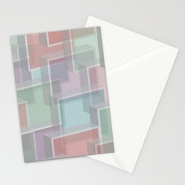 Lucite Blocks Pastel pink, green, blue, purple Stationery Cards
