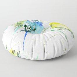 Parakeets Floor Pillow