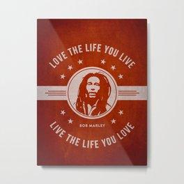 Marley - Red Metal Print