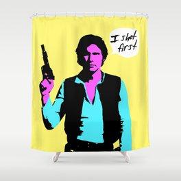 Han Solo: I Shot First Shower Curtain