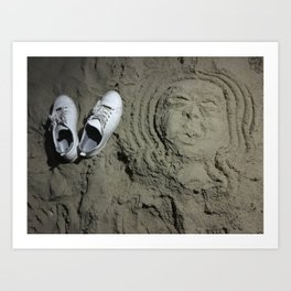 Shoes in the Sand Art Print