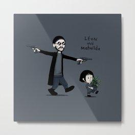 Leon and Mathilda Metal Print