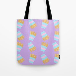 French Fry Pattern Tote Bag