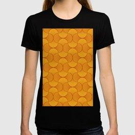 Happy Orange Retro Flowers Abstract T-shirt