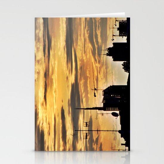 Milano City Skyline {Italy} Stationery Cards