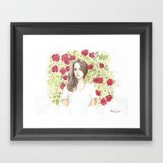 Lana in flowers Framed Art Print