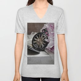Pocket Watch Unisex V-Neck