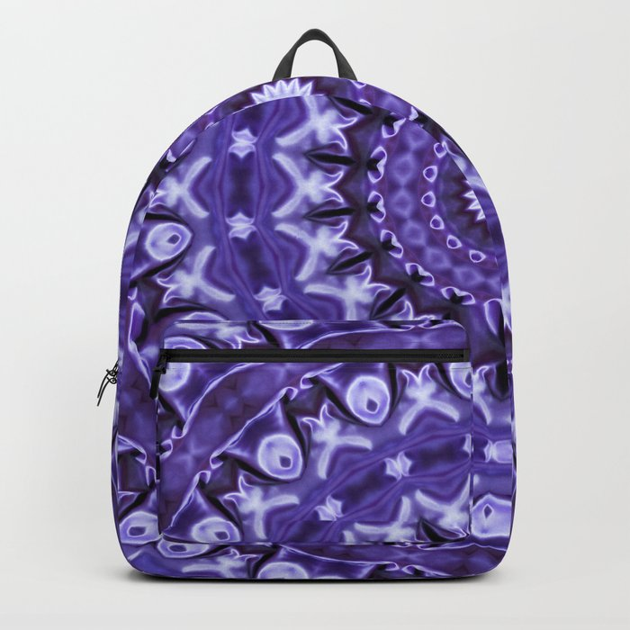 Kaleidoscope Purple Silk Backpack