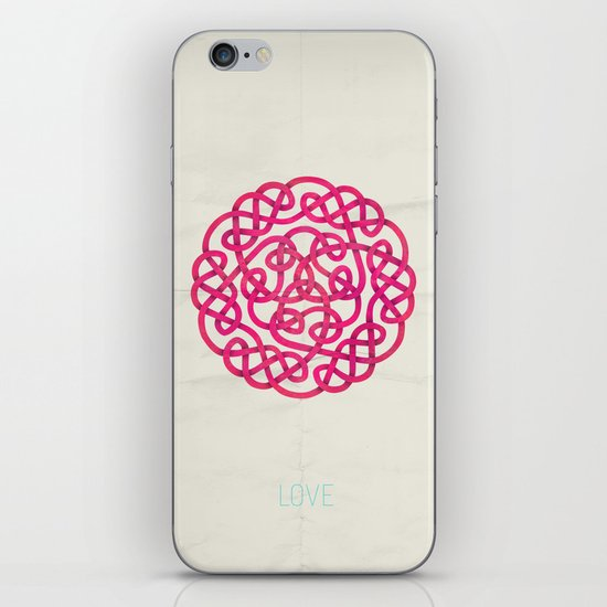 Love poster iPhone & iPod Skin