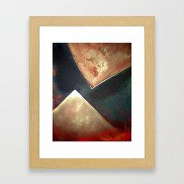 Golden Triangles Modern Abstract Art Painting Framed Art Print