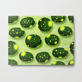 Home Grown Moon and Stars Watermelon Metal Print