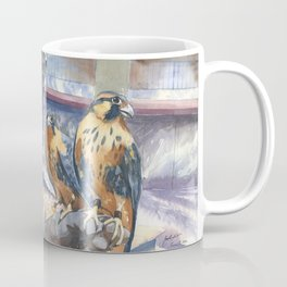 Two Baby Falcons Coffee Mug