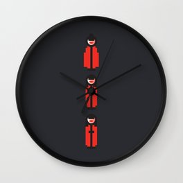 Three Japanese Kimono Ladies Wall Clock