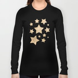 Beautiful champagne gold glitter sparkles Long Sleeve T-shirt