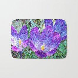 Purple Crocus Mosaic Bath Mat