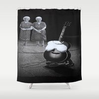 twins Shower Curtains featuring Twins by Kristina Haritonova