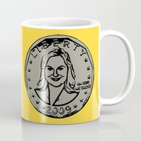 leslie knope Mugs featuring Leslie Knope  |  Susan B. Anthony Coin  |  Parks and Recreation by Silvio Ledbetter