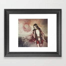 Losing control of the wheel Framed Art Print