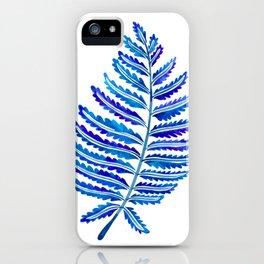 Fern Leaf – Navy Palette iPhone Case