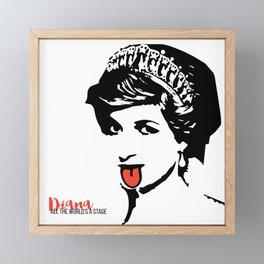 Princess Diana Tongue Art Framed Mini Art Print