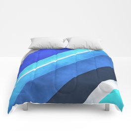 Parallel Blues Comforters